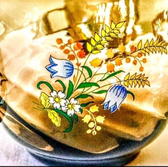 Set of 3 Vintage France Smokey Glass Teacups